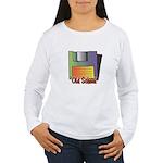 Old School Floppy Disk Women's Long Sleeve T-Shirt