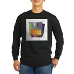 Old School Floppy Disk Long Sleeve Dark T-Shirt
