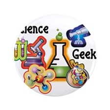 """Science Geek 3.5"""" Button (100 pack)"""