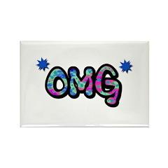OMG (Oh My God) Rectangle Magnet (100 pack)