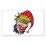 Laughing Evil Grin Clown Sticker (Rectangle 10 pk)