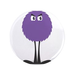"Cute Fuzzy Purple Monster 3.5"" Button"