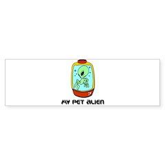 My Pet Alien Bumper Sticker