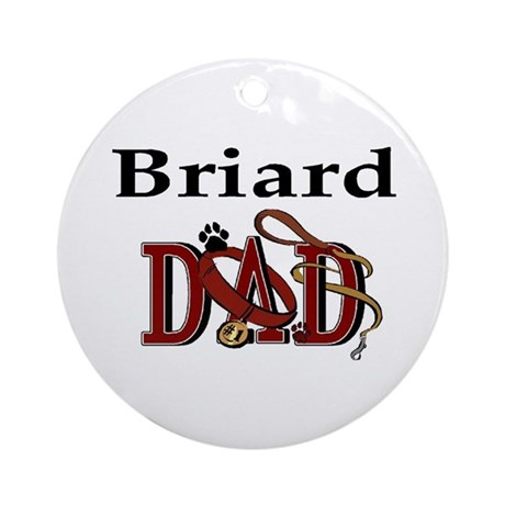 Briard Dad Ornament (Round)