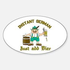 Instant German Just Add Bier Decal