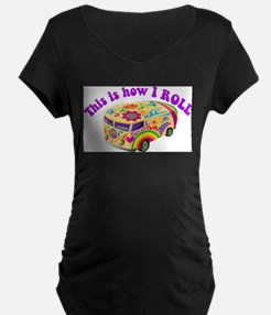 How I Roll Hippie Van T-Shirt
