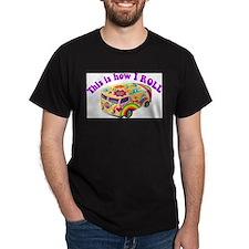 How I Roll Hippie Van T-Shirt