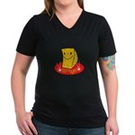 Sponge Women's V-Neck Dark T-Shirt