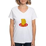 Sponge Women's V-Neck T-Shirt