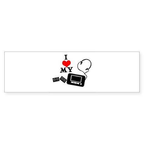 I Heart (love) my Walkman Sticker (Bumper)
