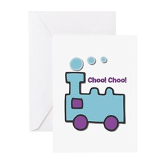 Retro Toy Train Greeting Cards (Pk of 20)