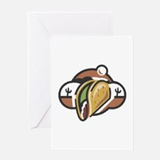 Mexican Taco Greeting Card