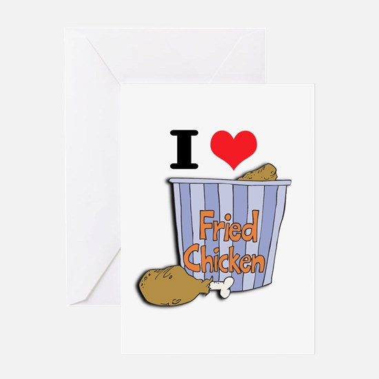 I Heart (Love) Fried Chicken Greeting Card