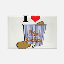 I Heart (Love) Fried Chicken Rectangle Magnet (100