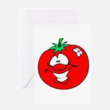 Happy Tomato Face Greeting Card