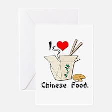I Heart (Love) Chinese Food Greeting Card