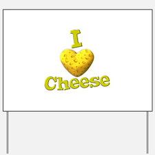 funny cute i heart love cheese cheesey heart Yard