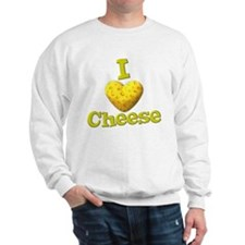 funny cute i heart love cheese cheesey heart Sweat