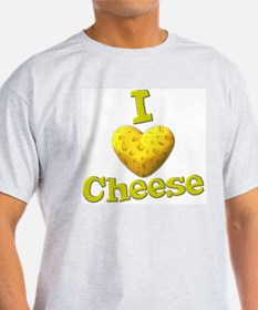 funny cute i heart love cheese cheesey heart T-Shirt
