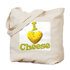 funny cute i heart love cheese cheesey heart Tote