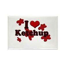 I Love Ketchup Rectangle Magnet (100 pack)