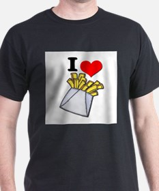 I Heart (love) French Fries T-Shirt