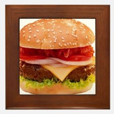 yummy cheeseburger photo Framed Tile