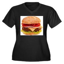 yummy cheeseburger photo Women's Plus Size V-Neck