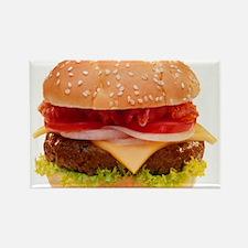 yummy cheeseburger photo Rectangle Magnet (100 pac