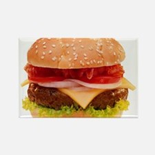 yummy cheeseburger photo Rectangle Magnet (10 pack
