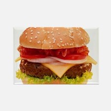 yummy cheeseburger photo Rectangle Magnet