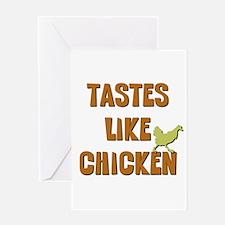 Tastes Like Chicken Greeting Card