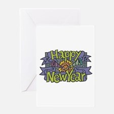 Happy New Year Cheer Design Greeting Card
