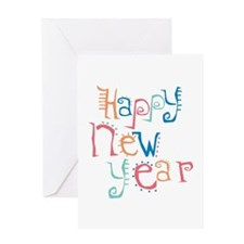 Pastel Happy New Year Greeting Card