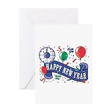 Happy New Year Confetti Desig Greeting Card