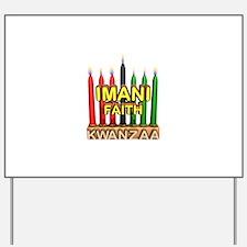 Imani (Faith) Kinara Yard Sign