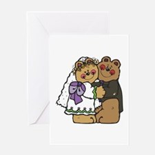 Country Style Bride and Groom Greeting Card