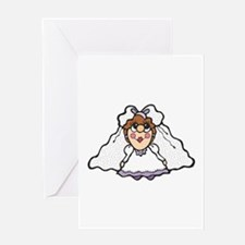 Country Style Bride Graphic Greeting Card