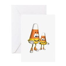 Cute Silly Candy Corn Greeting Card