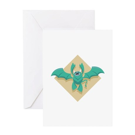 Gargoyle Bat Greeting Card
