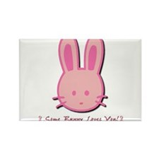 Breast Cancer Bunny Rectangle Magnet