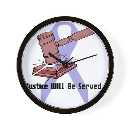 Domestic Violence Justice Wall Clock