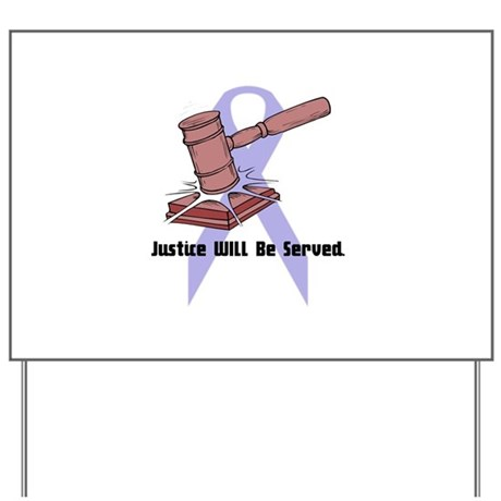 Domestic Violence Justice Yard Sign