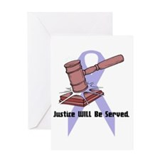 Domestic Violence Justice Greeting Card