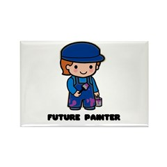 Future Painter Rectangle Magnet