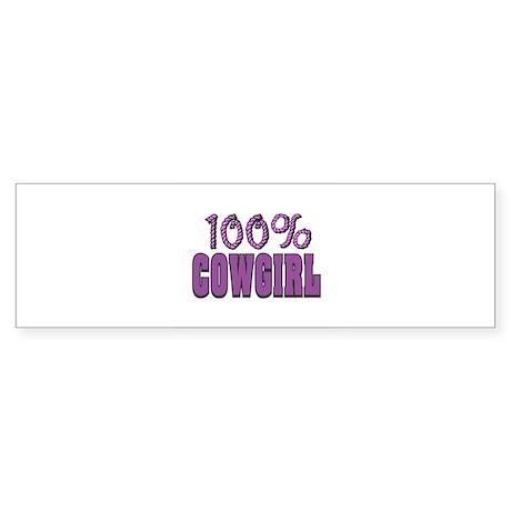 100% CowGirl Sticker (Bumper)