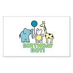 Birthday Boy Sticker (Rectangle 50 pk)