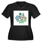 Birthday Boy Women's Plus Size V-Neck Dark T-Shirt