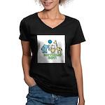 Birthday Boy Women's V-Neck Dark T-Shirt