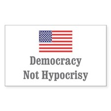 Not Hypocrisy Rectangle Decal